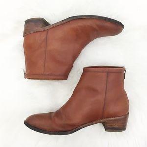 loeffler randall | felix cognac ankle booties boot
